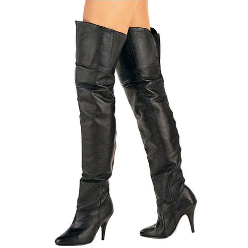 Pleaser LEGEND-8868 leer dames overknee laarzen hoge hak maat 37 - 38