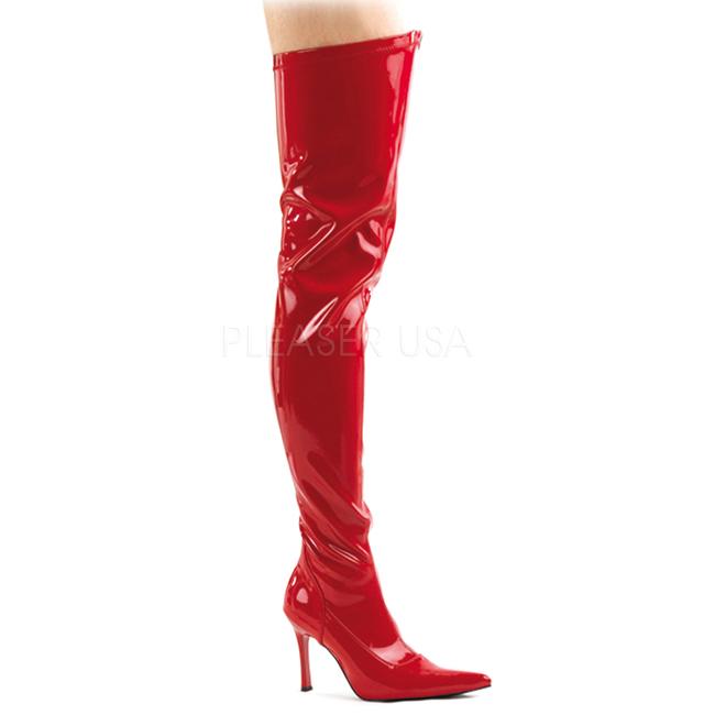 pleaser overknee laarzen met hak | overknee schoenen