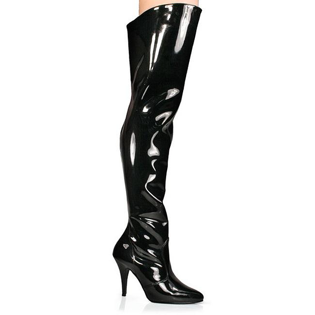 Pleaser VANITY-3010 zwarte overknee laarzen met hak maat 37 - 38